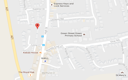 Map of Chiropractic Health Centre, Green Street Green